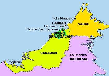 East Malaysia and Brunei; Click to see old names